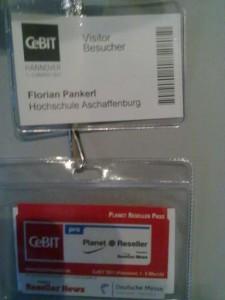 CeBIT Ausweis und Planet Reseller Karte