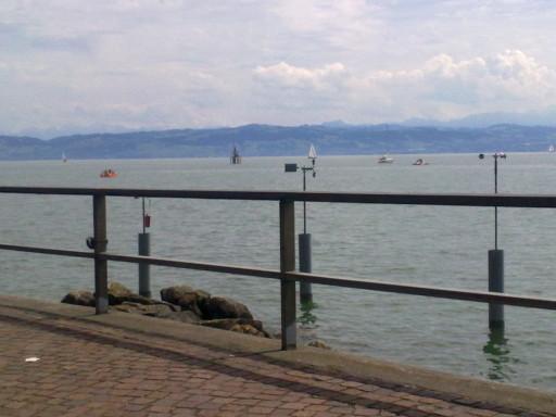 Ein super Ausblick über den Bodensee, leider nur das Handy dagehabt - bei der Aussicht hätte man einen besseren Foto benötigt!