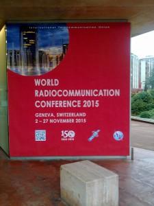 WRC-Banner am Conference Center