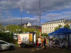 Stand von Notfunk Deutschland Stadtfest Wiesbaden 2015