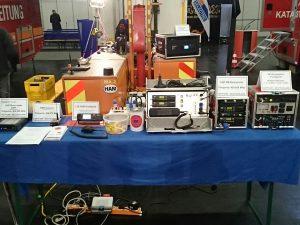 Die von uns ausgestellte Technik: DMR-Repeater, DMR-Gateway, Voice-over-LTE-Funkgerät, Funkkoffer 2m/70cm, Mobile Relaisstelle 70cm, Kurzwellenstation