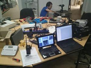 Arbeiten an Eventrack und Funk